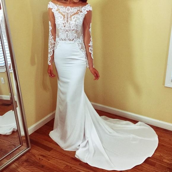 Dresses | New Custom Long Sleeve Button Back Wedding Dress | Poshmark
